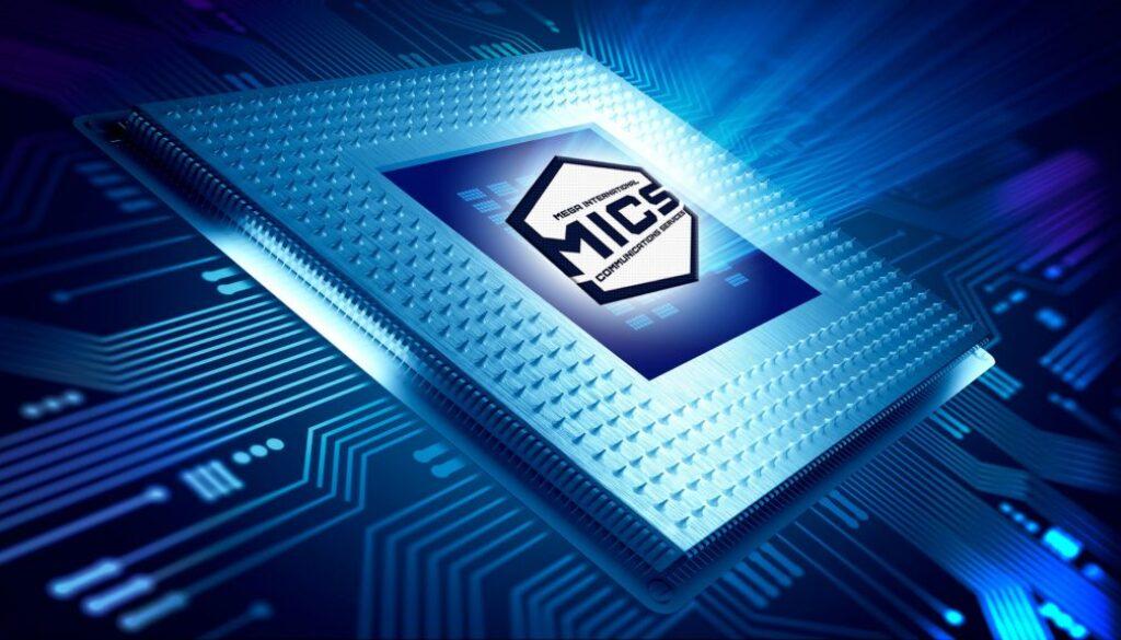 Blue modern computer processor tech design hero header