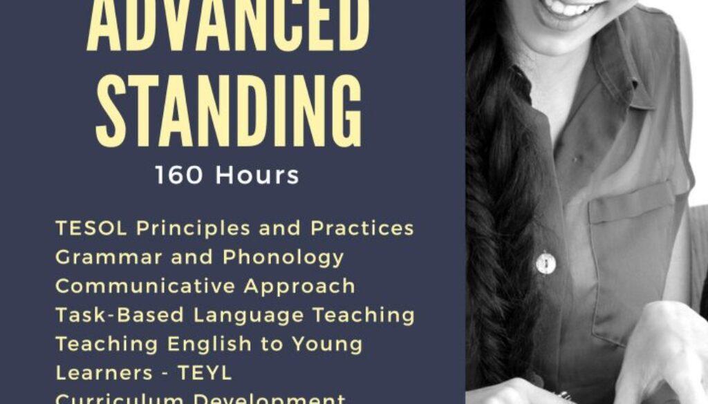 TESOL - Advanced Standing